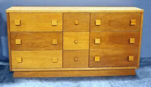 "9-Drawer Dresser, 31.75"" High x 60"" Wide x 16.25"" Deep"