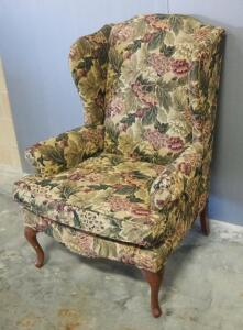 "La-Z-Boy Upholstered Armchair With Floral Print, 45"" High"