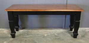"Bench With Black/Cherry Stain Finish, 17.5"" High x 42"" Wide x 14"" Deep, Matches Lot 23"