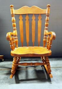 "Tell City Rocking Chair, Pattern 800, Andover Finish, 39.5"" High"