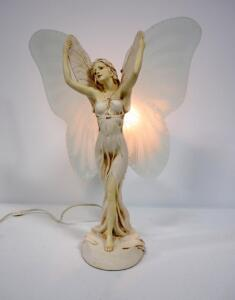 "Fairy Woman Resin Table Lamp, 23.5"" High, Powers On"