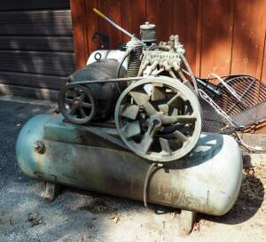 Gardner-Denver ADD-1011 Air Compressor And 80gal Tank, 5hp, Three Phase, Unknown Working Order