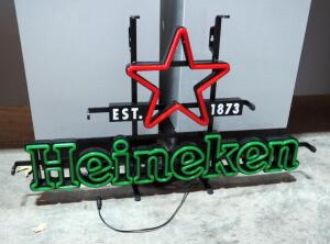"Heineken LED Neon Sign 16"" x 28"", Appears New In Package"