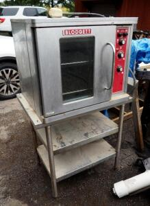 Blodgett Commercial Electric Oven With Left Hinged Door On Metal Stand, Single Or Three Phase, Unknown Working Order