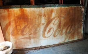 "Vintage Metal Drink Coca-Cola Retail Sign, 45"" x 109"""