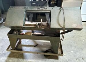 "North American Tool Co Electric Horizontal Band Saw, On Rolling Stand, 40"" x 60"" x 20"", Unknown Working Order"