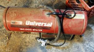 Universal Natural Gas Forced Air Heater, Model 150-F, 150,000 BTU/Hr