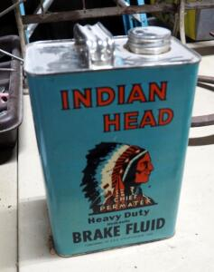 Indian Head Chief Permatex Heavy Duty Hydraulic Brake Fluid, Full 1 Gallon Can