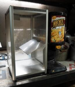 Gehl's Electric Hot Top Nacho Cheese Dispenser And Gold Medal Deluxe Servealot Electric Warmer Box
