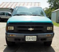 1994 Chevrolet S10 Pickup Truck, Mileage Showing On Odemeter 84,432.5, VIN # 1GCCT14Z1R8147994