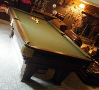 "Brunswick Heirloom Pool Table With Leather Pockets 32.5"" x 102"" x 56"" Includes Balls - 4"