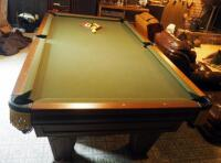 "Brunswick Heirloom Pool Table With Leather Pockets 32.5"" x 102"" x 56"" Includes Balls - 9"