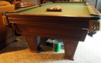 "Brunswick Heirloom Pool Table With Leather Pockets 32.5"" x 102"" x 56"" Includes Balls - 11"