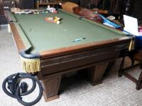 "Brunswick Heirloom Pool Table With Leather Pockets 32.5"" x 102"" x 56"" Includes Balls - 13"