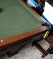 "Brunswick Heirloom Pool Table With Leather Pockets 32.5"" x 102"" x 56"" Includes Balls - 15"