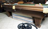 "Brunswick Heirloom Pool Table With Leather Pockets 32.5"" x 102"" x 56"" Includes Balls - 17"