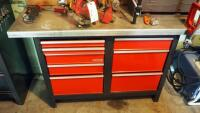"Craftsman 8 Drawer Workbench, 33.5"" x 56"" x 22.5"", Contents Not Included, SECOND DAY LOADOUT ONLY"