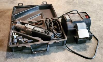 Craftsman Wet Sharp Machine; And Electric Hand Grinder, Model 315.17330, Includes Bits And Carrying Case