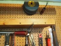 Hand Tool Assortment Including Screwdrivers, Pry Bars, Sanding Wheels, Precision Files, Torque Driver, & Reamer Set, And More; Contents Of Wall - 2