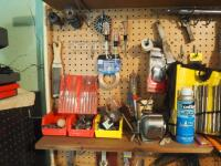 Hand Tool Assortment Including Screwdrivers, Pry Bars, Sanding Wheels, Precision Files, Torque Driver, & Reamer Set, And More; Contents Of Wall - 4