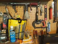 Hand Tool Assortment Including Screwdrivers, Pry Bars, Sanding Wheels, Precision Files, Torque Driver, & Reamer Set, And More; Contents Of Wall - 5