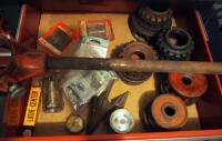 Ridgid Threading Dies, Reamers, Wrench, And More; Contents Of Drawer - 2