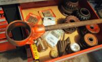 Ridgid Threading Dies, Reamers, Wrench, And More; Contents Of Drawer - 3