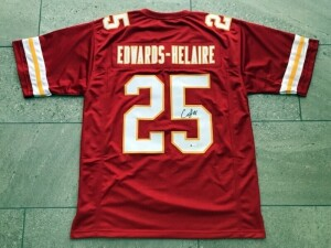 Star Rookie Running Back Signed Jersey #25 Clyde Edwards-Helaire