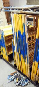 Granite Industries Steel 5ft x 5ft Scaffold Frames, Qty 8 Sets, Includes Coupling Pins And Bases