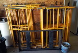 Granite Industries Steel Scaffold Frames, 5x5 Qty 6 Sets, 3x5 3 Sets Includes Coupling Pins No Bases