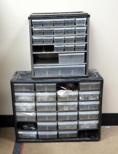 Tabletop Hardware Organizer Bins Qty 2, Including Contents