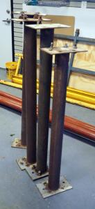 4ft Steel Pipe Braces, Qty 3, And A 3.5ft Steel Pipe Brace
