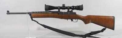 Ruger Mini-14 Ranch .223 Cal Rifle SN# 581-32829, With Barska Scope And Nylon Sling