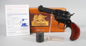 Heritage Rough Rider .22 Cal 6-Shot Revolver SN# P05666, Includes Both .22 And .22 Mag Cylinders, Paperwork, In Original Box
