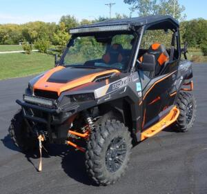 2017 Polaris General 1000 EPS, VIN # 3NSRGE990HH866671, 1616 Miles, Light Bars, Gun Mount, Vendetta Step Ups, 600lb Tilt Bed, SEE DESCRIPTION FOR VIDEO