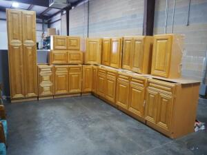 Lots 13-26 Are Pieces Of the Kitchen Cabinet Set Pictured Here, Each Piece Sold Separately, Color In Set Picture Is True To In Person