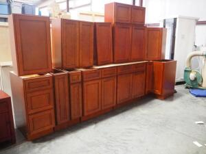 Lots 27-38 Are Pieces Of the Kitchen Cabinet Set Pictured Here, Each Piece Sold Separately, Color In Set Picture Is True To In Person