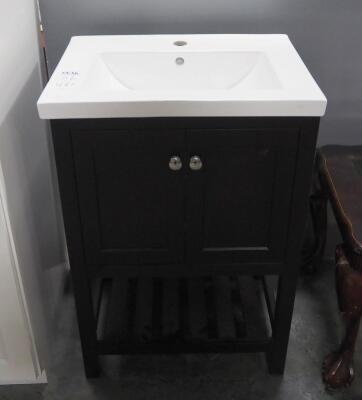 "2-Piece Bathroom Vanity, Made For Single Faucet, 34.75"" High x 24"" Wide x 18"" Deep"