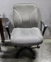Pair Of Rolling Swivel Office Chairs, Both Tilt And Have Adjustable Heights - 2