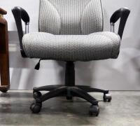 Pair Of Rolling Swivel Office Chairs, Both Tilt And Have Adjustable Heights - 4