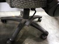 Pair Of Rolling Swivel Office Chairs, Both Tilt And Have Adjustable Heights - 5