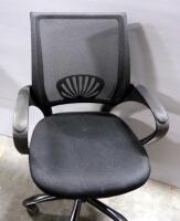 Pair Of Rolling Swivel Office Chairs, Both Tilt And Have Adjustable Heights - 7