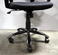 Pair Of Rolling Swivel Office Chairs, Both Tilt And Have Adjustable Heights - 8