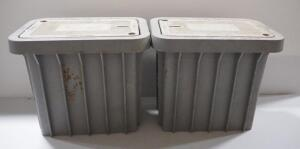 "Oldcastle Concrete Vault Drop Boxes, Tier 15, 14.5"" Wide x 21.5"" Deep x 18.5"" High, Qty 2"