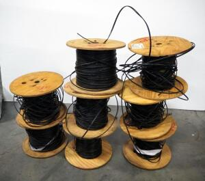 OFS Optical Cable, 8 Partial Spools, Unknown Total Length