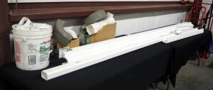 Guttering Supplies, Includes Vinyl Gutter Pieces, Down Spouts, Corners, Brackets And More