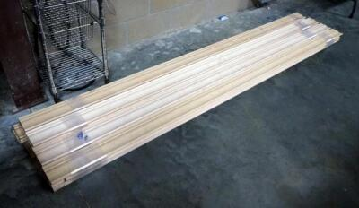 "Solid Wood Crown Moulding, 4.5"" Wide x Approx 100"" Long, Qty 20 Pieces"