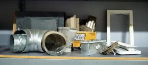Assorted Venting Supplies, Includes Vent Covers, Return Covers, Some Ducts, And More