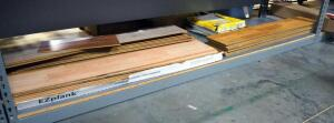 Laminate Flooring, Various Styles, Some Scrap, And Vinyl Self Adhesive Tile