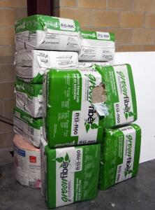 Green Fiber R13-R60 Blown-In Insulation, 19 lb Packs, Qty 13 And Owens Corning R-19 Insulation Roll